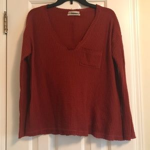 Urban Outfitters waffle knit thermal top